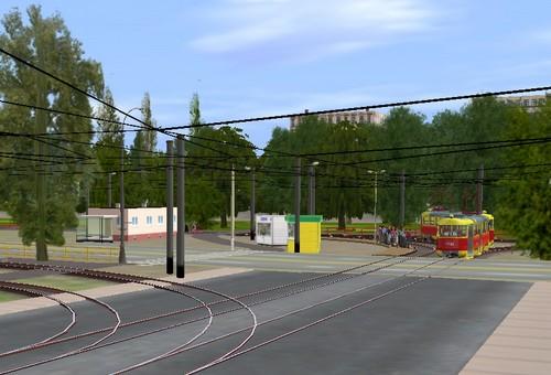 Волгоградский трамвай в Auran Trainz: станция Монолит